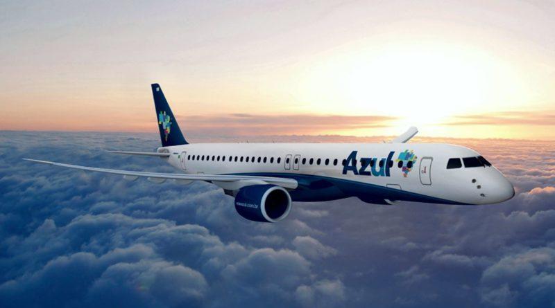 Avião da Azul. Empresa quer comprar parte da Avianca Brasil.