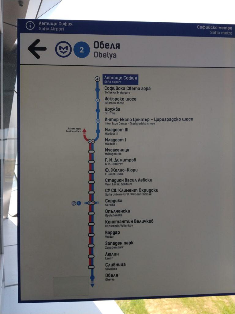 Mapa do Metrô de Sofia - o que fazer em Sofia, Bulgária