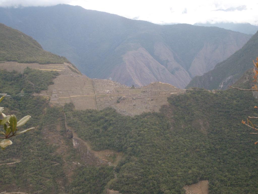Machu Picchu Trilha Alternativa - Inka Jungle Trail - Putucusi - primeira vista de Machu Picchu